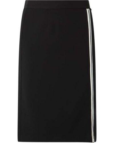 Czarna spódnica w paski z wiskozy Karl Lagerfeld