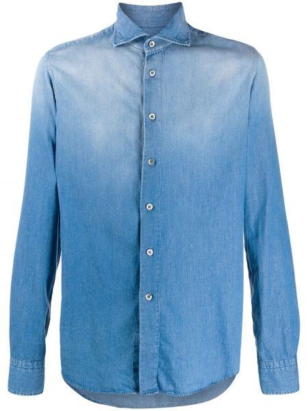 Koszula z długim rękawem klasyczna dżinsowa Dell'oglio