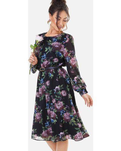 Шифоновое платье с поясом Dressa