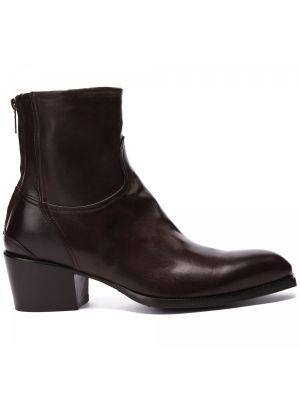 Коричневые кожаные ботинки Rocco P.