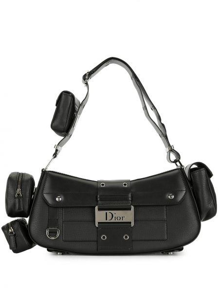 Skórzany czarny torba kosmetyczna Christian Dior