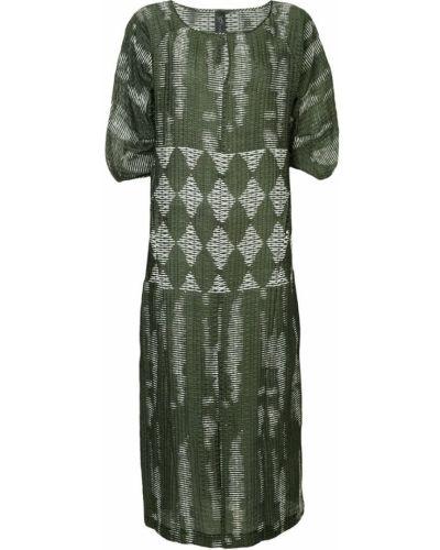 Платье макси с длинными рукавами - зеленое Zero + Maria Cornejo
