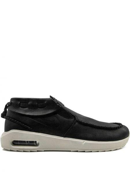 Klasyczne czarne mokasyny skorzane Nike