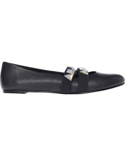 Балетки кожаные черные Le Silla
