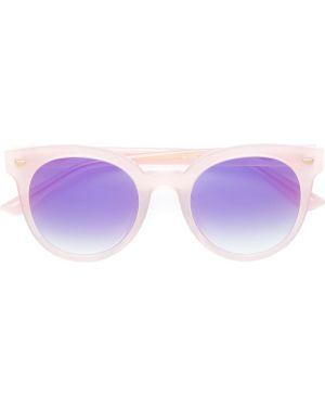 Муслиновые солнцезащитные очки круглые хаки Bolon