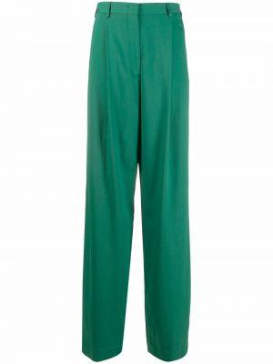 Зеленые брюки из вискозы Paul Smith