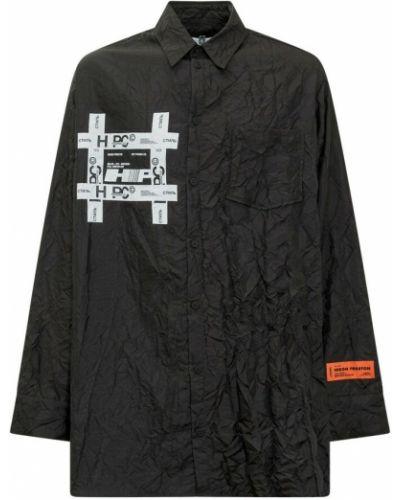 Koszula z printem - czarna Heron Preston