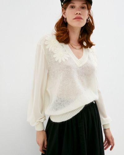 Белый пуловер Twinset Milano
