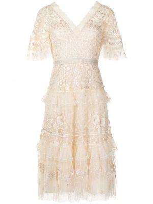 Белое платье с вырезом Needle & Thread