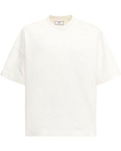 Bawełna bawełna biały koszula z haftem Ami Alexandre Mattiussi