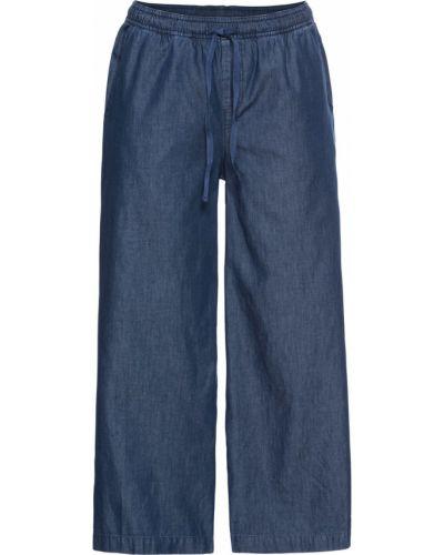 Широкие джинсы синие Bonprix