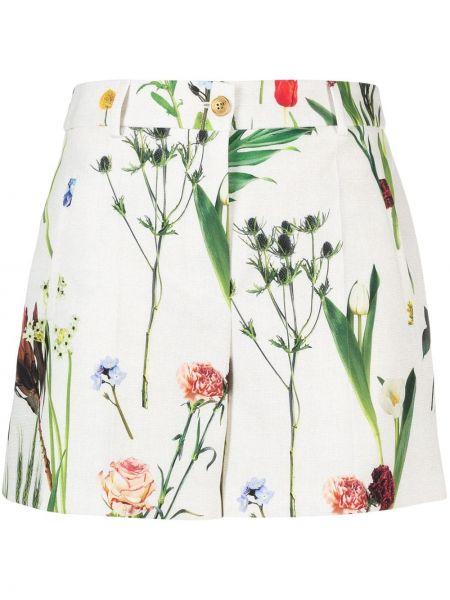 Прямые шорты на молнии в цветочный принт Boutique Moschino