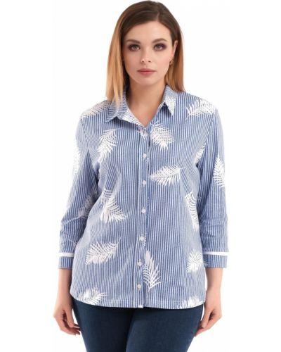 Блузка в полоску с рукавом 3/4 одевайте
