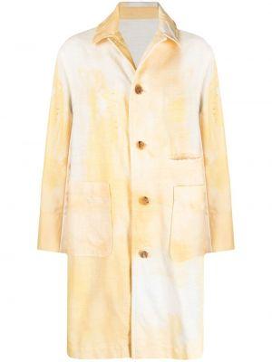 Длинное пальто с воротником на пуговицах со шлицей Undercover