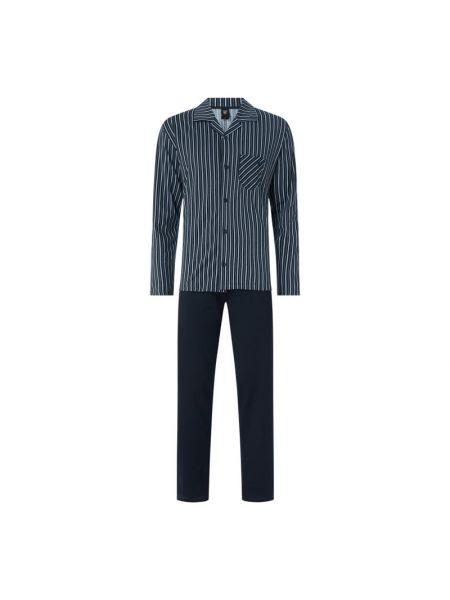 Piżama bawełniana - niebieska Calida