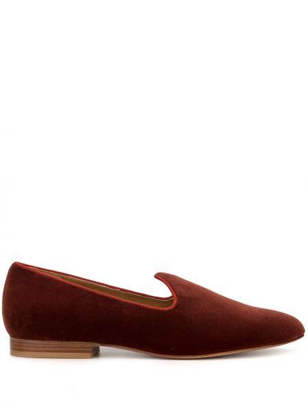 Оранжевые кожаные туфли круглые Le Monde Beryl