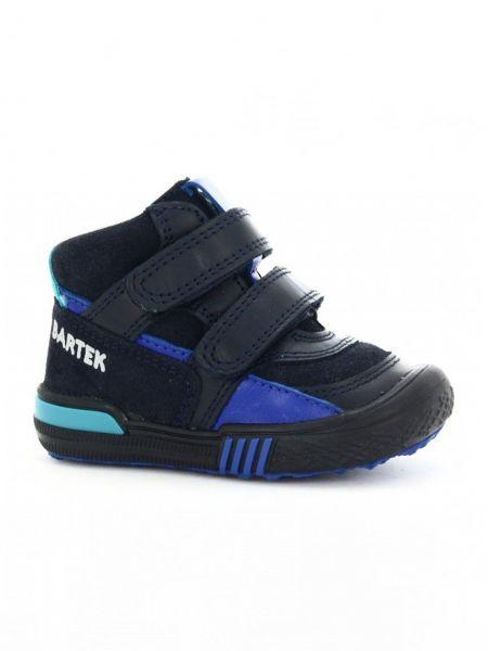 Кожаные кроссовки - синие Bartek
