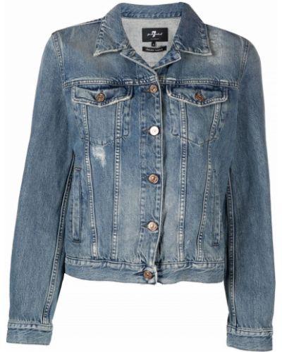 Синяя джинсовая куртка с воротником 7 For All Mankind