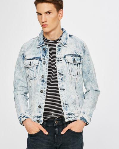 Джинсовая куртка укороченная на пуговицах Only & Sons