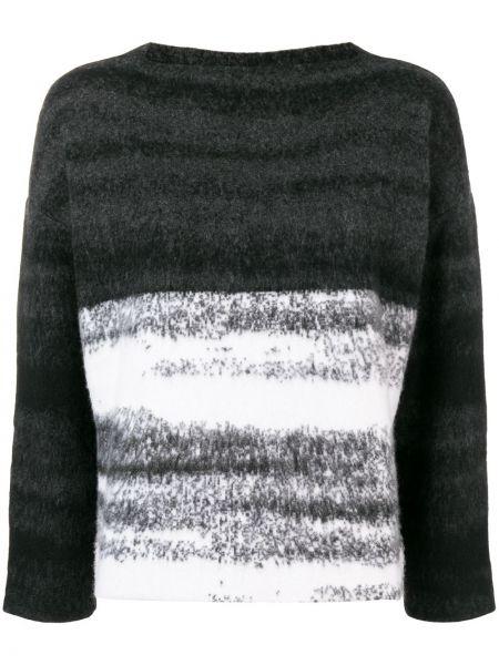 Czarny z kaszmiru sweter Dusan