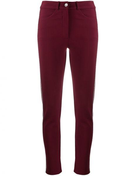 Красные зауженные брюки с полоской по бокам с карманами D.exterior