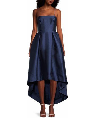 Синее платье с декольте Parker