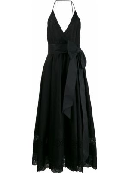 Платье миди с открытой спиной с V-образным вырезом N21