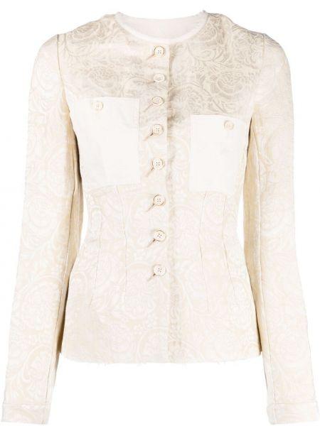 Хлопковый приталенный удлиненный пиджак на пуговицах Uma Wang