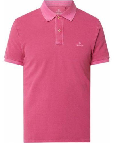 Różowy t-shirt bawełniany Gant