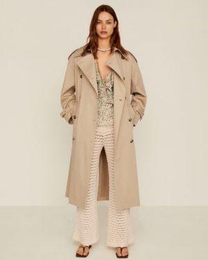 Пальто пальто-тренч с воротником Mango