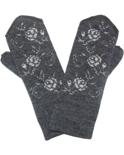 Варежки с вышивкой серые Lacywear