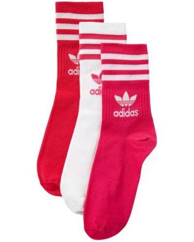 Różowe skarpety bawełniane Adidas Originals