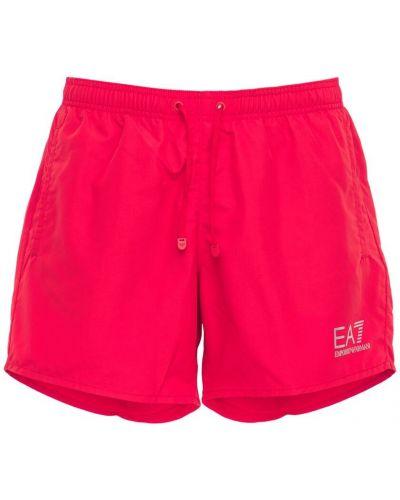 Красные шорты с подкладкой с завязками Ea7 Emporio Armani