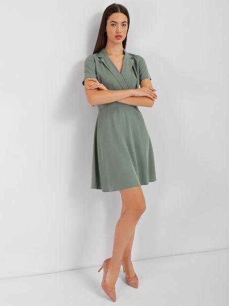 Платье рубашка - зеленое Mexx