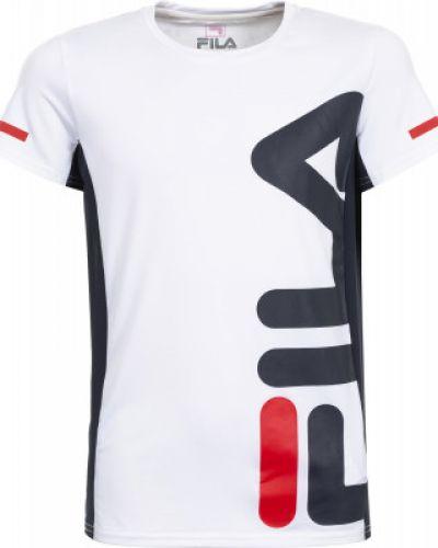 Белая футболка прямая Fila