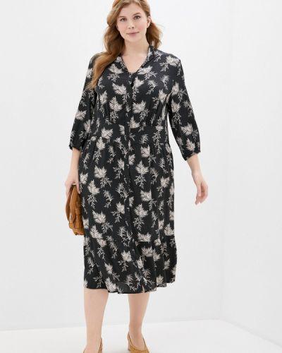 Повседневное черное повседневное платье Ulla Popken