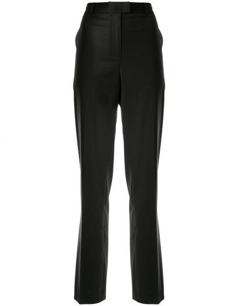 Черные прямые брюки с воротником Paul & Joe