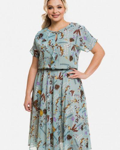 Бирюзовое повседневное платье Venusita
