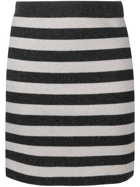 Черная с завышенной талией вязаная юбка Kenzo