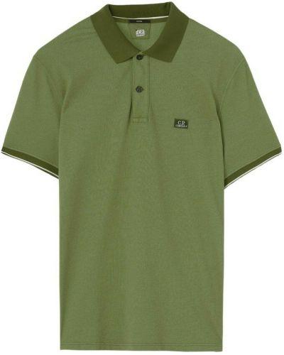 T-shirt z haftem - zielona C.p. Company