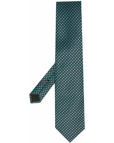 Шелковая синяя резинка для волос с декоративной отделкой Tom Ford