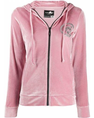 Розовый спортивный костюм с карманами Plein Sport