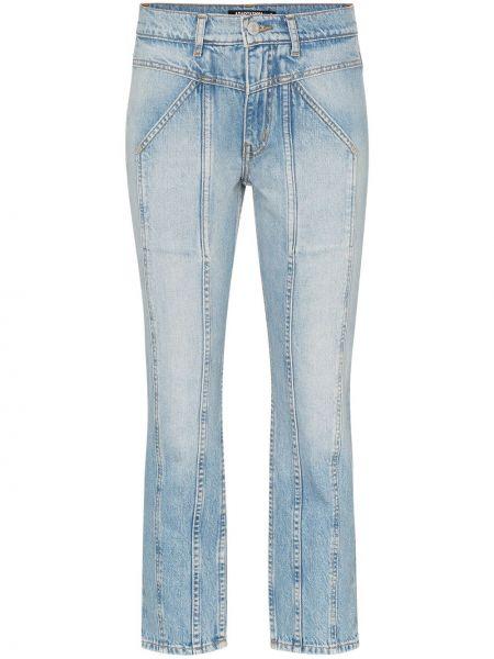 Niebieskie jeansy bawełniane z paskiem Adaptation