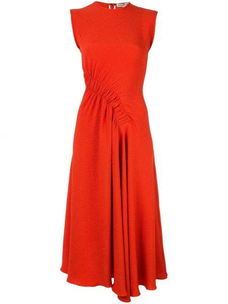 Красное платье миди без рукавов с вырезом на молнии Edeline Lee