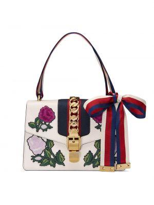 Открытая нейлоновая маленькая сумка с декоративной отделкой с карманами Gucci