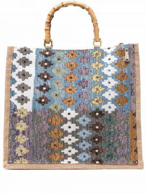 Niebieska torebka z printem La Milanesa