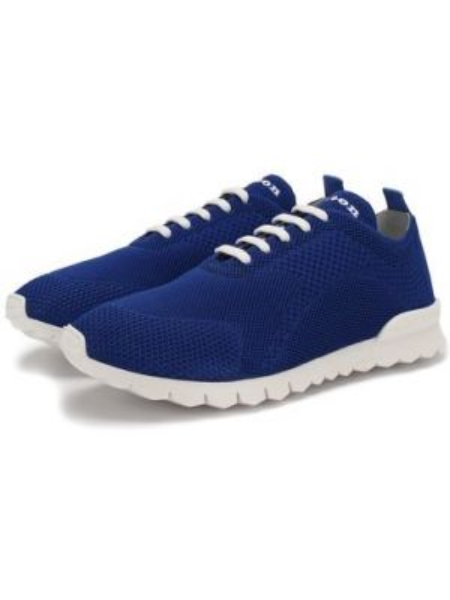 Синие текстильные кроссовки с подкладкой Kiton