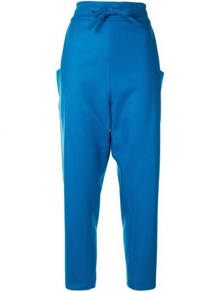 Синие зауженные брюки Maison Rabih Kayrouz