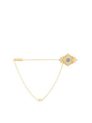 Золотистая серебряная брошь золотая Dolce & Gabbana