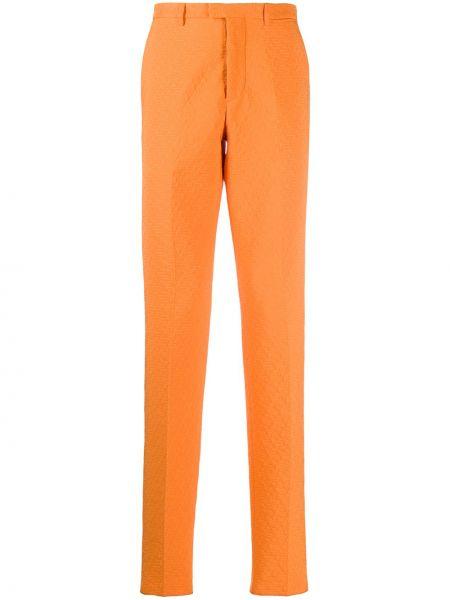 Оранжевые деловые брюки на пуговицах Jil Sander Pre-owned